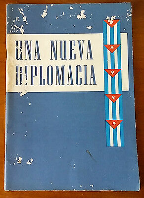 """1959 Book """"new Diplomacy"""" Cuba Fidel Castro Government New Foreign Policy"""