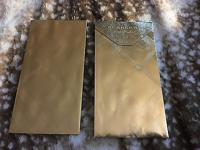 """2x Burberry London Chinese New Year """"Gold"""" Pocket Envelopes Lucky Money Unused"""