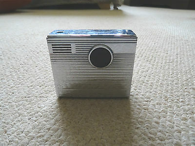 Art Deco Camera Style Rowenta Stainless Steel Table Lighter, Near Mint, Germany
