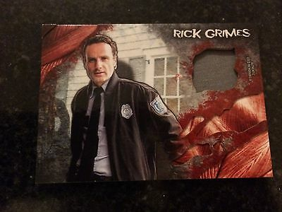 Walking Dead Topps Survival Box Authentic Shirt Relic Card of RICK GRIMES