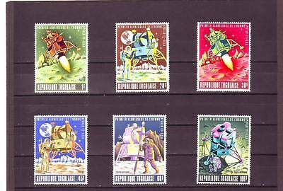 a121 - TOGO - SG644-649 MNH 1969 FIRST MAN ON THE MOON