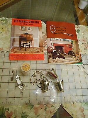Lot Vintage Rug Braiding Tools, etc