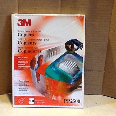 3M PP2500 Transparency Film for Copiers (120 Sheets) 8.5x11 NEW & SEALED