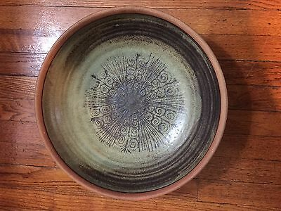 Canadian pottery stoneware large bowl by Jack Herman