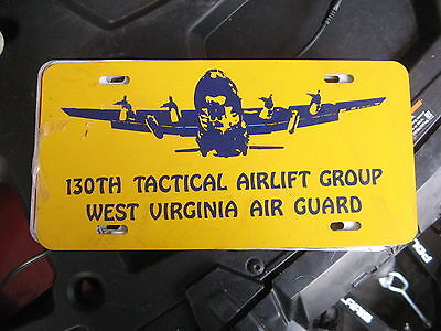 130Th Tactical Airlift Group Air Guard West Virginia Booster Front License Plate