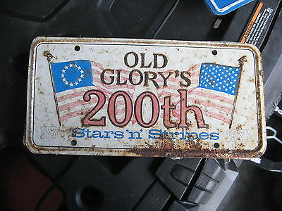 1776 76 1976 76 Old Glory Usa Us 200Th Stars N Stripes Booster License Plate