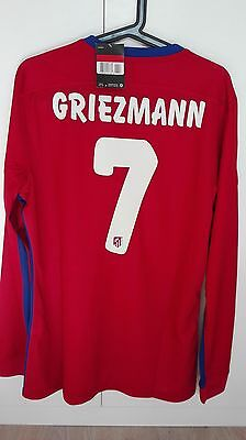 "Camiseta Shirt Atletico De Madrid Player Issue Match Un Worn Final San Siro ""l"""