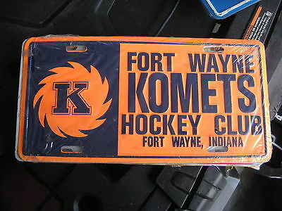 Fort Wayne Komets Hockey Club Indiana In Booster Front License Plate