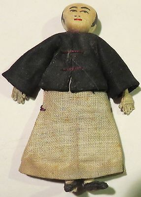 """Antique 3"""" All Original Wonderful Character Asian Doll House Doll!"""