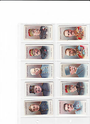 ALLIED ARMY LEADERS- Wills 1917- 43/50-VG37,G5,F1.