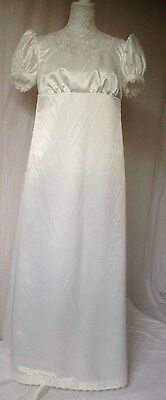 Ladies Jane Austen Period Regency Dress Gown Size 12