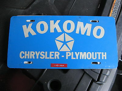 Kokomo Chrysler Plymouth Indiana In Booster Dealer License Plate