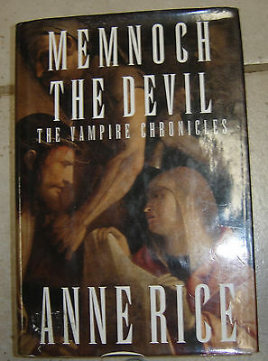 Autographed Anne Rice Memnoch the devil Hard cover first edition Book