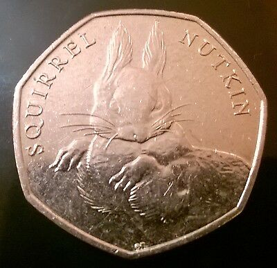 COLLECTABLE SQUIRREL NUTKIN 50p Piece Rare - Collect it and save for the future