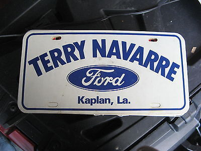 Terry Lavarre Ford Kaplan Louisiana La Booster Dealer License Plate