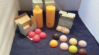 PartyLite 2 Large Pillar  Candles  & 14 Aroma Melts