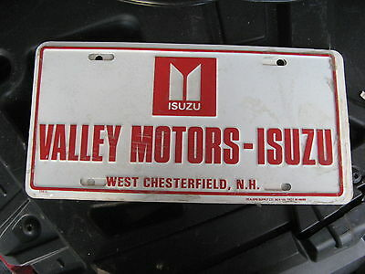 Valley Motors Isuzu West Chesterfield Hampshire Nh Dealer Booster License Plate