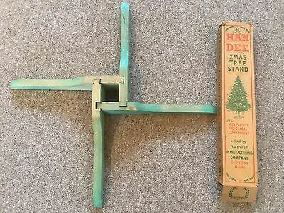 Vintage HAN-DEE Christmas Tree Stand ~ Brewer Mfg Co, Old Town Maine
