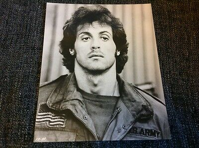 Vintage original 1980's Sylvester Stallone First Blood Rambo film photograph l