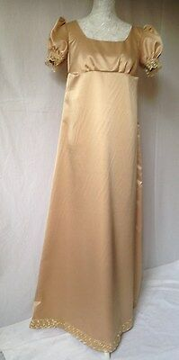 Ladies Jane Austen Period Regency Dress Gown Size 10