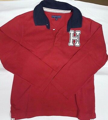 Polo rugby ml garçon TOMMY HILFIGER 10 ANS ROUGE BE