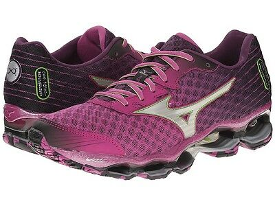 MIZUNO WAVE PROPHECY 4 WOMENS RUNNING SHOES size 6.5 NEW PURPLE SILVER GREEN