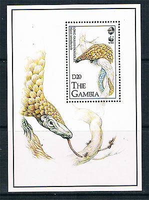 Gambia 1993 Endangered Species MS SG 1499 MNH