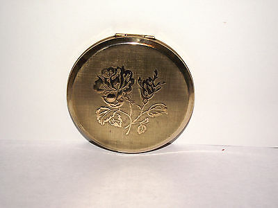 Vintage Stratton Powder Compact With Rose,excellent.