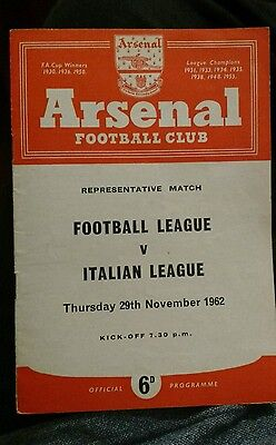 Football League v Italian League season 1963-1963