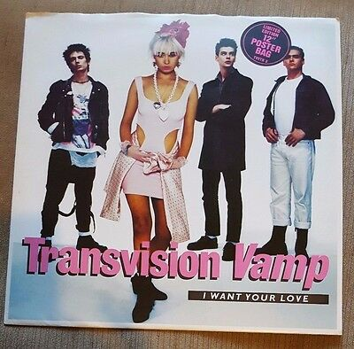 """TRANSVISION VAMP - I Want Your Love ~12"""" Vinyl Single~ *POSTER BAG*"""