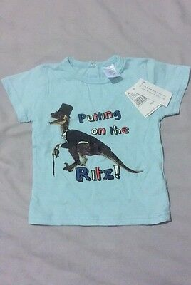 Cool 'Putting On The Ritz' T-Shirt BNWT 3-6 Months