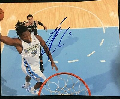 Denver Nuggets Kenneth Faried Signed 8x10 Photo
