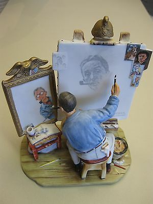 """Norman Rockwell figurine """"Self Portrait"""" from Gift World of Gorham 1978"""