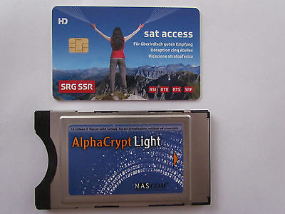 Schweizer SAT-TV-HD-Karte,SRG-SRF-HD-Access-Card, Viaccess V5.0 + Alphacrypt CAM