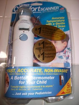 Exergen Comfort Scanner Temporal Thermometer Model TAT-2000C Opened Box