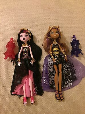 Monster High 13 Wishes Dolls x2