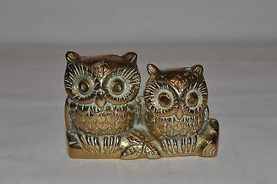 vintage brass owls collectible