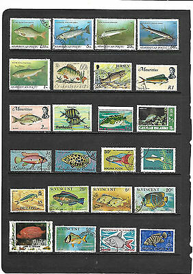 Collectors Clearout - Stamps depicting fish - #68
