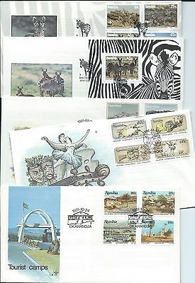 Namibia stamps. A few FDC from 1991 & 1992 (W914)