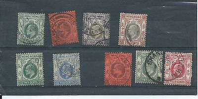 Hong Kong stamps. Edward VII used lot. Think these are all multicrown CA. (Y583)