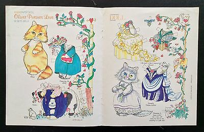 Oliver Pursues Love Kitty Cats Paper Dolls, 1993, Bette Wells Art