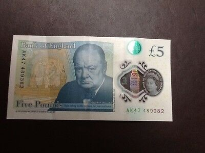 Ak 47 Bank Of England Polymer £5 Flve Pound Note