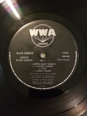BLACK SABBATH ~ SABBATH BLOODY SABBATH WWA 1st press USED LP VINYL RECORD EX/EX