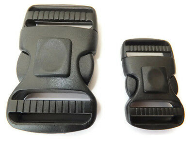 LOCKABLE side clip for 25 or 38 mm webbing delrin buckle fastener with LOCK J8