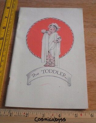 1929 The Toddler flapper girl on the cover pamphlet taking care of child 20pgs