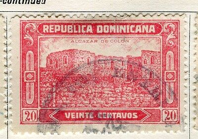 DOMINICA;  1928 early pictorial issue fine used 20c. value