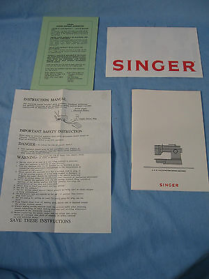 Singer Manual for 5,8,10,16 & 22 Pattern Sewing Machines Mint