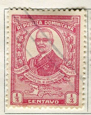 DOMINICA;  1929 early portrait issue fine used 1/2c. value