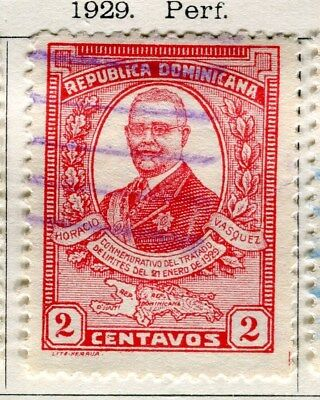 DOMINICA;  1929 early portrait issue fine used 2c. value
