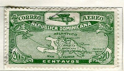 DOMINICA;   1930 early AIR issue fine used 20c. value